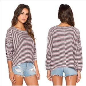 Free People Little Ann Striped Pullover Sweater